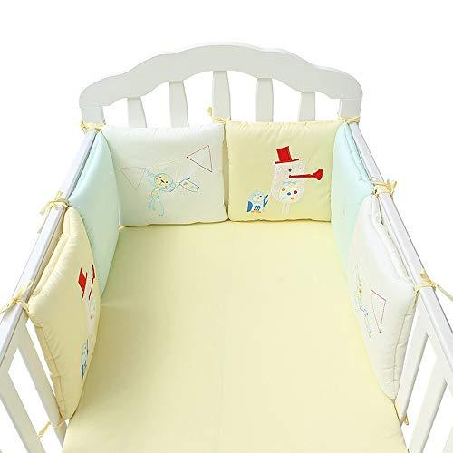 Literie pour bébé en coton impression et teinture actives Produits de literie pour bébé Literie Parure de lit 6 ensembles de lits taille universelle A