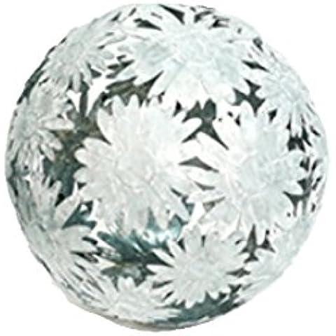 Sfera decorativa Gerbera fiori, 24cm metallo zinco decorazione giardino sfera