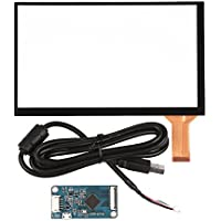 GeeekPi 7 inch 10 Points Capacitive Touch Panel Screen with Driver Board & USB Touch Screen Cable for Raspberry Pi LCD Display