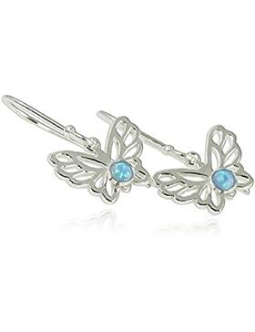 Schmetterling Schmuck Opal 925Sterling Silber Ohrringe Charming Geschenk für Mädchen Teens oder Nature Lover