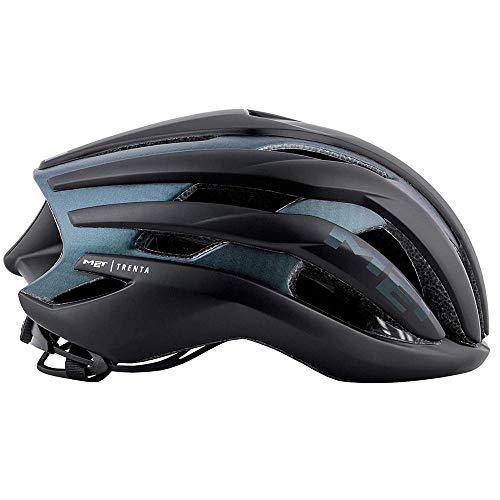 MET Trenta 3K Carbon Rennrad Fahrrad Helm Triathlon Belüftet Radhelm Inmould Reflektierend, 570019, Farbe Schwarz Dunkelblau, Größe L