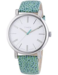 Timex Damen-Armbanduhr Originals Classic Round Analog Quarz Leder T2P324
