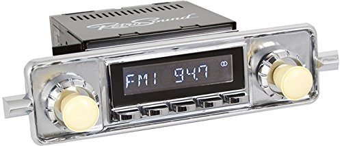 Retrosound Classic RC900 (Laguna) Chrome VW Sapphire Style Retro Radio with  AUX