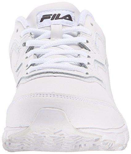 Fila di memoria Fresh Start antiscivolo scarpe da lavoro White/White/White