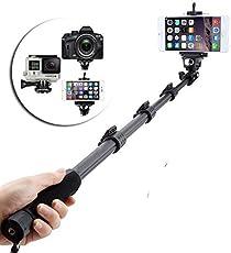 Raptas Yt-1288 Bluetooth Wirelesss Selfie Stick For Apple Iphone 7 Plus (Multi-Color)