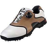 Zapatos de Golf Impermeables del Cuero Genuino para los Hombres con el Sistema del Cordón de Boa