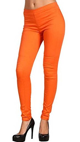 ladies-cotton-ful-lankle-leggings-ref-2190-orange-xl