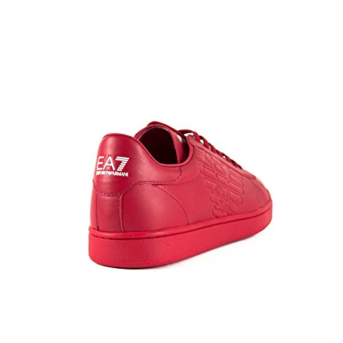 EA7 New Classic Leather Trainers Rouge