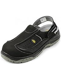 euroroutier Calzado de seguridad Sporting medio negro s1p A+E + FO + Sra - Negro (Negro), UE 41