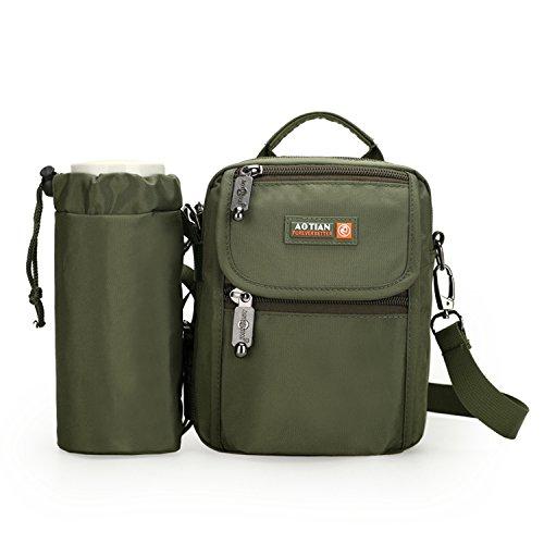 Outreo Schultertasche Vintage Umhängetasche Herren Taschen Kuriertasche Reisen Herrentaschen Messenger Bag Reisetaschen Gr¨¹n