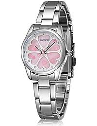 Alta calidad Casual vestir relojes para mujer Fashion Femininos imitación piel de cuarzo banda pin hebilla lujo moderno relojes de pulsera hembra