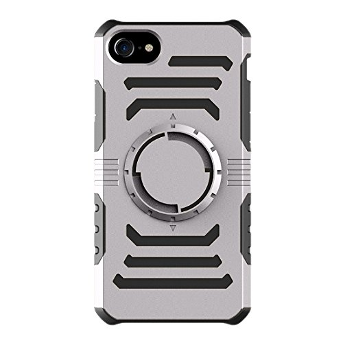 GHC Cases & Covers, Multifunktions-Outdoor-Sport-Armband mit abnehmbarem PC + TPU Kombi-Etui für iPhone 7 ( Color : Dark blue ) Grey