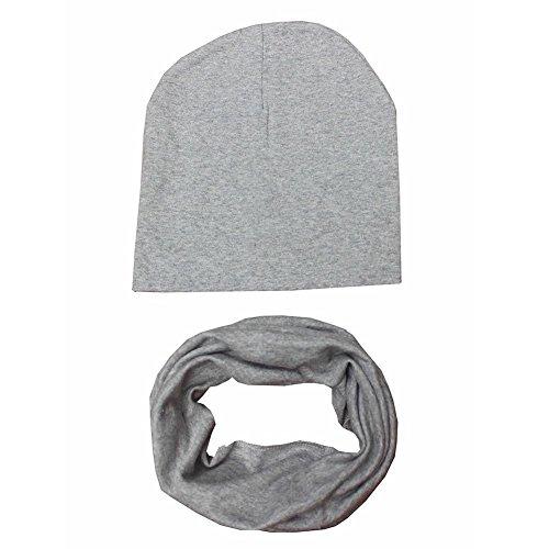 Minuya Kinder Winter Warme Mütze Schal Kragen Hüte 2 Teile / satz (Stripe Pom Top)