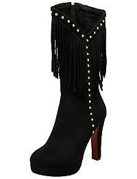 Uno Piel A Zapatos es Y Mujer Para Botas Amazon q5CtFPxpwP