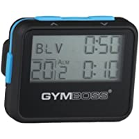 Gymboss Interval Timer and Stopwatch – Soft Coating Black/Blue