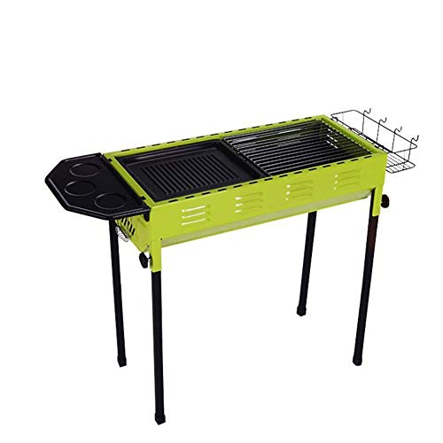 Qnlly Grills Edelstahl BBQ Holzkohlegrill Raucher Barbecue Folding Portable für Outdoor Camping Kochen Wandern Picknicks Backpacking -