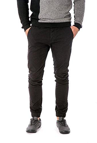 ONLY & SONS - Pantaloni uomo con elastici alle caviglie tarp chino cuffed w36 l34 nero