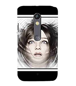 For Motorola Moto X Play beautiful girl, young girl, cute girl, girl Designer Printed High Quality Smooth Matte Protective Mobile Case Back Pouch Cover by APEX