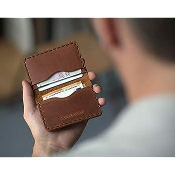 Braunes Leder Ausweishülle Geldbörse Portemonnaie, langlebige Aufbewahrung von ID, Kreditkarten und Banknoten, Kartenhülle, Lederbrieftasche, Geldtasche