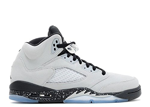 Nike  Air Jordan 5 Retro Gg,  Damen Basketball Turnschuhe , grau - Gris (Wolf Grey / Black-Black) - Größe: 43 -