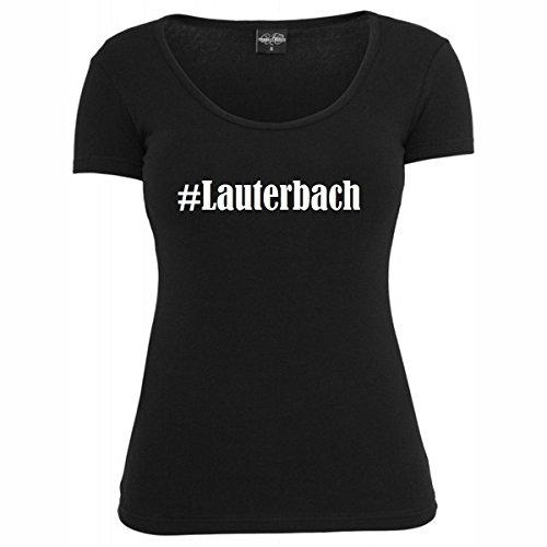 T-Shirt #Lauterbach Hashtag Raute für Damen Herren und Kinder ... in den Farben Schwarz und Weiss Schwarz
