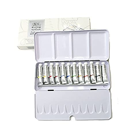 Winsor & Newton 5 ml Professional Water Colour Lightweight Metal Box Set (Pack of 12)