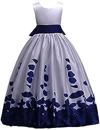 99aeb856ca3f8 Darringls Elégant Enfant Fille Robe de sans Manches Impression Princesse  Tutu Jupe Mariage d