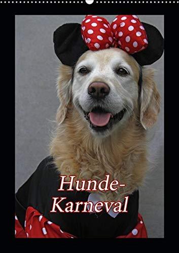 Hunde-Karneval (Wandkalender 2020 DIN A2 hoch): Zwei Hunde feiern Karneval (Monatskalender, 14 Seiten ) (CALVENDO - Comic Hunde Kostüm