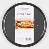 Prochef Non-Stick Large 30cm/12inch Carbon Steel Pizza Tray - Fridge, Freezer & Dishwasher Safe with 5 Year Guarantee - Silver