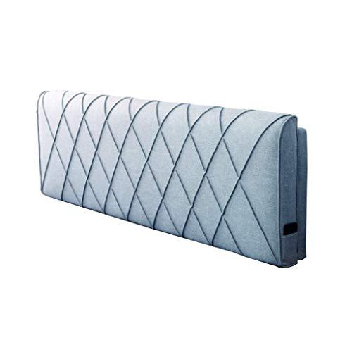 MWPO Soft Back Bed Pack, Double Headboard Lesekissen, Home Size Down, Tröster, waschbar Bett zurück und ohne Bett 4 Farben, 5 Größen (Farbe: Blau, Größe: No Headboard 100 * 58cm) -