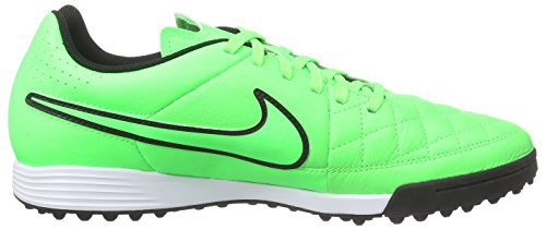 Nike Tiempo Genio Leather Tf, Chaussures de football homme Vert - (Green Strike/Green Strike/Black/Black)