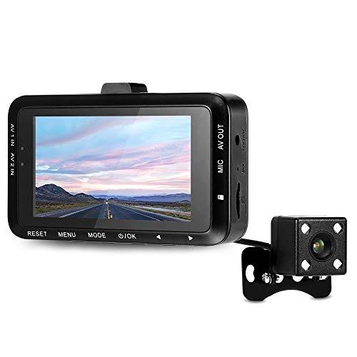 SDRFSWE DV168 Dash Cam 2 7-Zoll-130-Grad-Dual-Kamera-Motorrad Fahren Videorecorder Mit Vorder- Und Rückfahrkamera