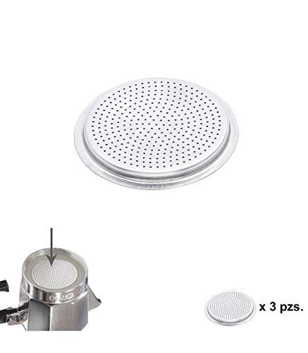 ORYX Filtro Cafetera Inducción 12 Tazas, Aluminio, Plateado, 9x9x3 cm