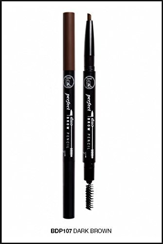 J. Cat Perfect Brow Duo Pencil 107 Dark Brown by Perfect Duo Brow Pencil