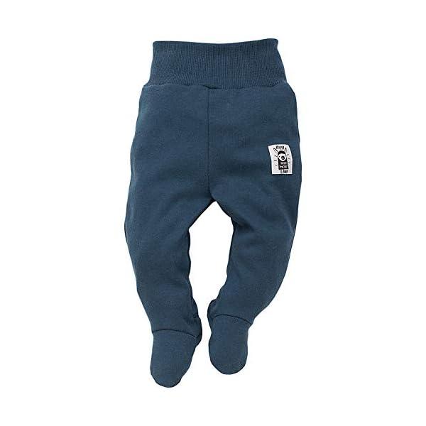 Pinokio - Happy Llama Pantalones/Pantalones Mameluco 100% de algodón bebé - Pantalones de sueño con los pies (Turquesa… 1