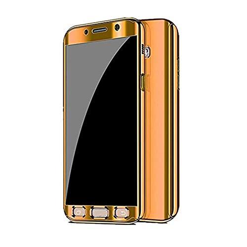 Kompatibel Samsung Galaxy S7 Hülle, Samsung Galaxy S7 Edge Hüllen 3 in 1 Ultra Dünner PC Harte Case 360 Grad Ganzkörper Spiegel Schutzhülle für Galaxy S7/S7 Edge (Samsung Galaxy S7 Edge, Gold)