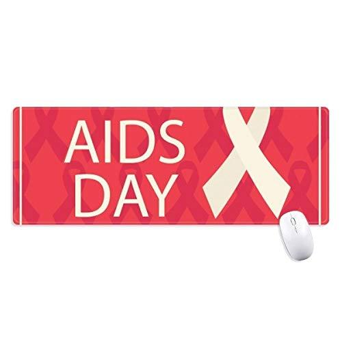 Xinsushp Home Welt-AIDS-Tag Red Ribbon HIV rutschfestes Mousepad Großes erweitertes Spielbüro Ränder Computermatte Geschenk -