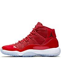 finest selection 9ea26 39c47 Nike Herren Air Jordan XI Retro Win wie 96 Schuhe in Rot Glänzendem Leder  378038-