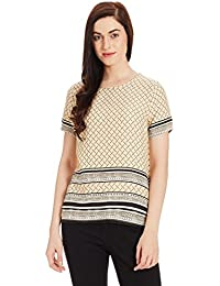 VERO MODA Damen T-Shirt Vmpenny S/S Border Midi Top