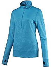 PUMA Bloom 1/4 Zip Golf Pullover 2016 Ladies Hawaiian Ocean X-Small