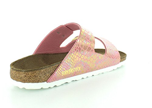Birkenstock Arizona 252271 Sandali, Unisexe Adulto Shiny Serpent Rose Birko Flor