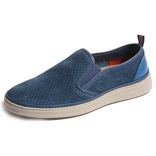 B0270 sneaker uomo BRIMARTS scarpa mocassino azzurro shoes men [39]