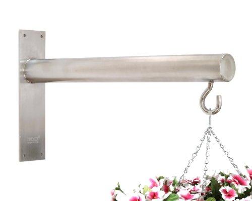 Braax Hangtec Cylinder HT-1A09 - Zeitgenössische edelstahl hängekorb halterung / wandhalter für blumenampeln (Hurricane Lantern Bird Feeder)