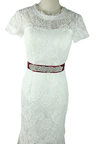 Lemandy Belle et Sexy moulures ceinture pour mariage Robe de soirée Rouge - Rouge