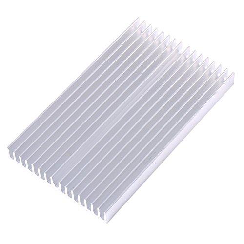 Walfront Aluminium Kühlkörper Modul Kühler Fin für High Power Verstärker Transistor Halbleiter Geräte, mit dichter 16PCS Flossen 10cm (L) X 6cm (W) X 1cm (H) -