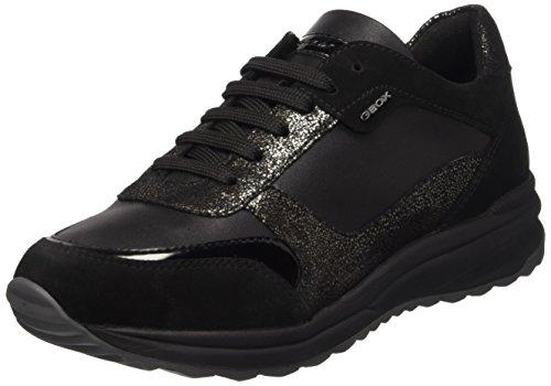 Geox Damen D Airell C Sneakers, Schwarz (BLACKC9999), 39 EU