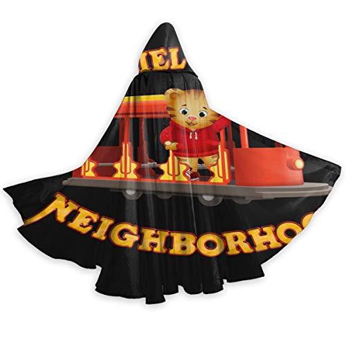 Pengxuelinshop mantello con cappuccio unisex daniel tiger's neighbourhood per halloween cosplay costume di natale