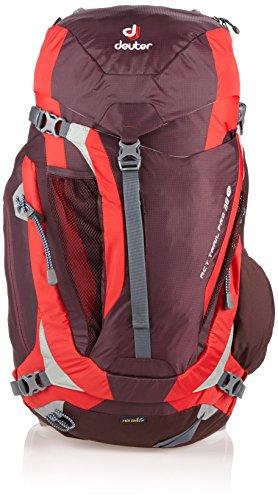 Deuter ACT Trail Pro Mochila para Montaña, Mujer, Morado (Aubergine / Fire), 38 l