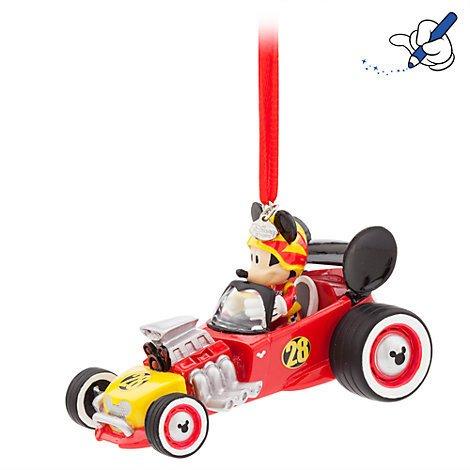 Mickey Mouse Roadster, Sonnenspirale, offizielles Disney Weihnachten Ornament (Beauty Beast Chip Kostüm)