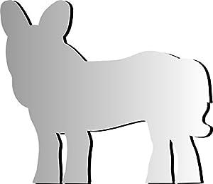 Henbea- Espejo Infantil acrílico Animales Burro, 65x50cms (950)